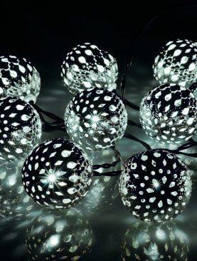 Ghirlanda decorativa globuri 4.8W, 20 LED-uri, 2.85 m, pentru interior