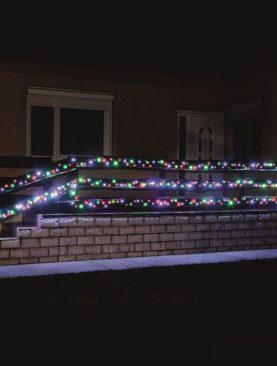 Instalatie luminoasa de Craciun, 200 LED-uri, lumina statica, IP44