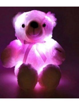Ursulet din plus cu Lumina de veghe, LED-uri multicolore, alimentare baterii