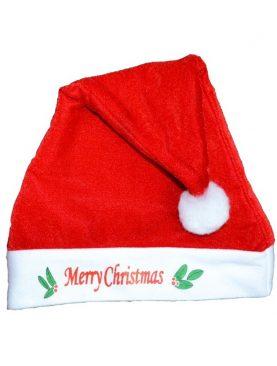 Caciula Merry Christmas pentru Craciun, material textil, marime universala