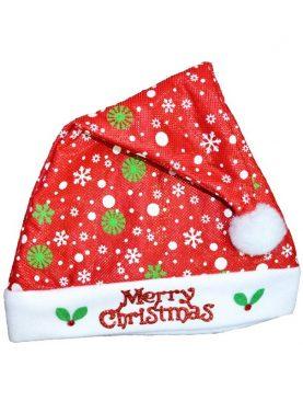 Caciula de Mos Craciun, Merry Christmas din material textil, unisex