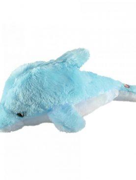 Delfin de plus cu lumina ambientala, LED-uri multicolore, 41 cm