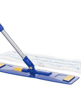 Mop plat, laveta microfibra, coada extensibila, 40 cm, rotire 360 grade