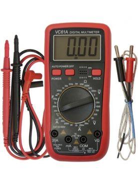 Multimetru digital 61A, 10 functii cu sonda temperatura