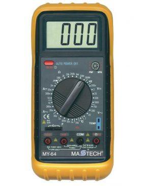 Multimetru profesional, 10 functii, ecran LCD, sonda temperatura, carcasa antisoc
