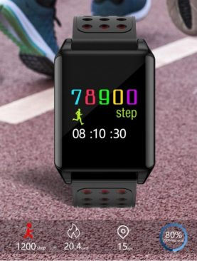 Bratara smart fitness Bluetooth, 9 functii, tensiune si puls, pedometru, IP67