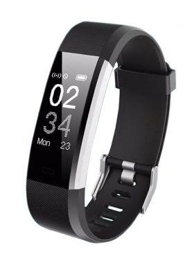 Bratara smart fitness Bluetooth, monitorizare cardiaca, somn, pedometru, iOS/Android