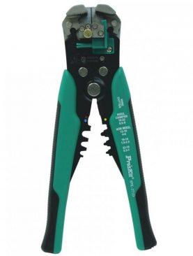 Cleste dezizolator si presat papuci, opritor detasabil, 210 mm